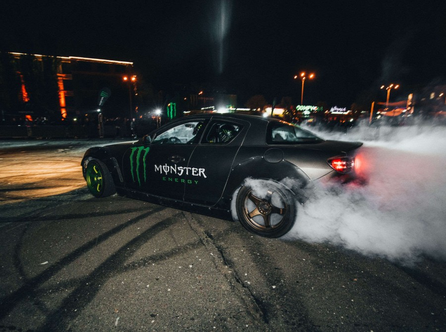 Monster Energy product launch party in Kiev, Ukraine - a drifting show by Dmitriy Illyuk