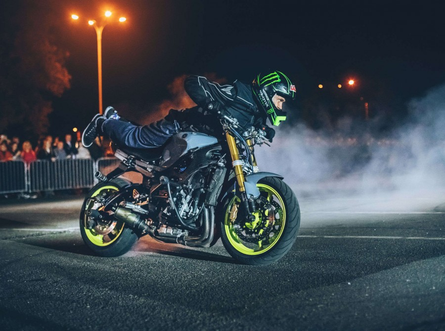 Monster Energy product launch party in Kiev, Ukraine - a motorbike stunt show by Rafal Pasierbek aka Stunter13