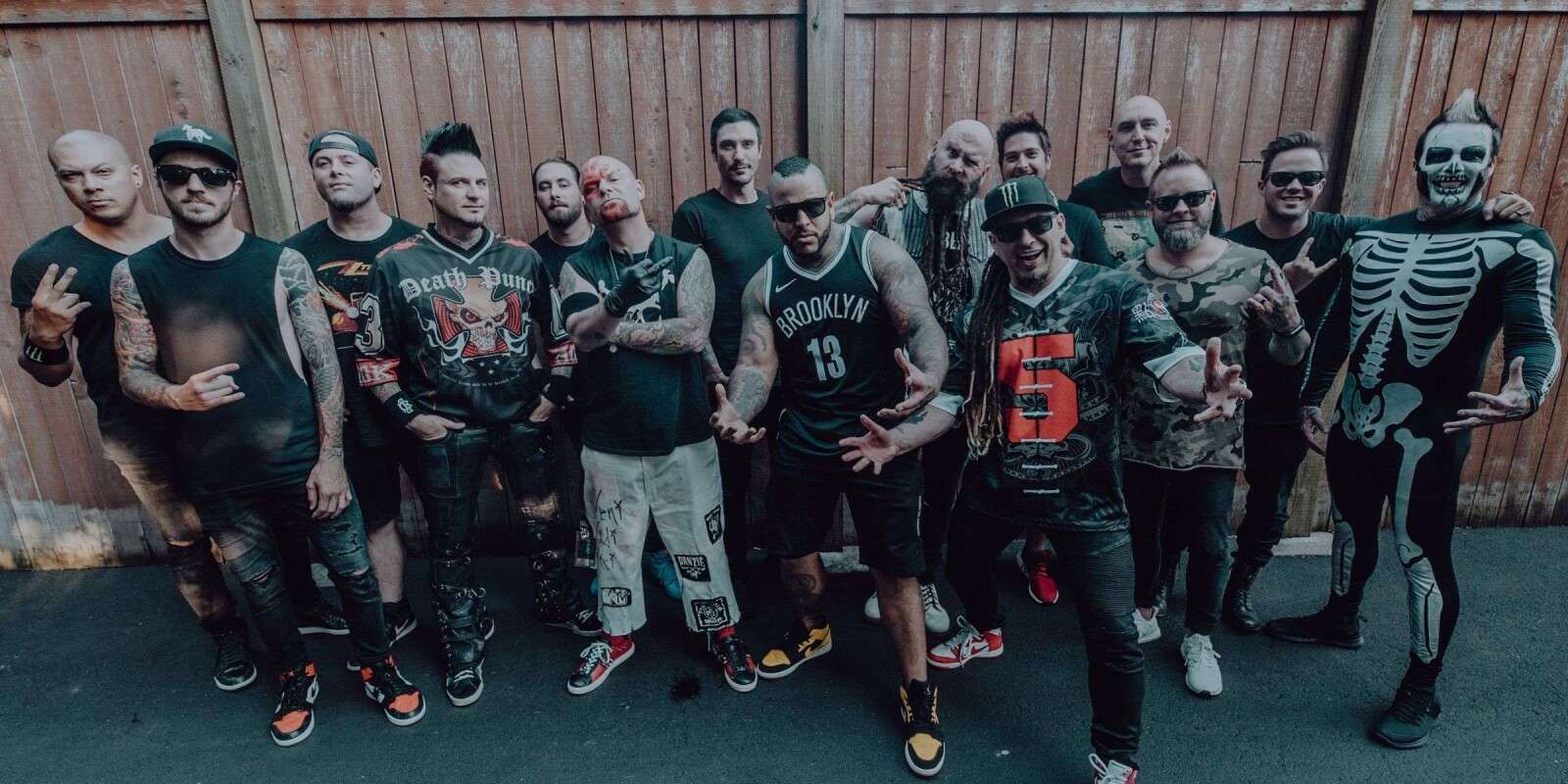 Group photo with bad wolves, five finger death punch and breaking benjamin. Photo credits  IG:  http://instagram.com/randyedwardsphotos FB:  https://www.facebook.com/RandyEdwardsPhotos/ Twitter:  http://twitter.com/randy_superior