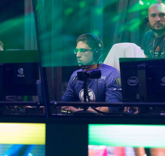 Photos of Evil Geniuses' Dota 2 team at The International 2018 in Vancouver, Canada