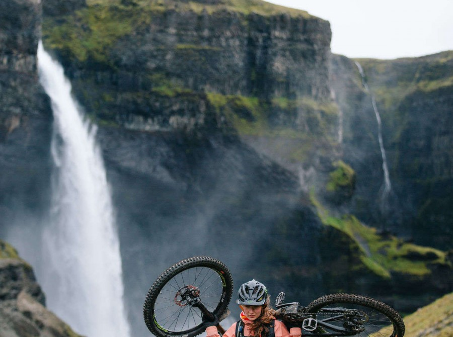 Shots of Manon Carpenter in Iceland.