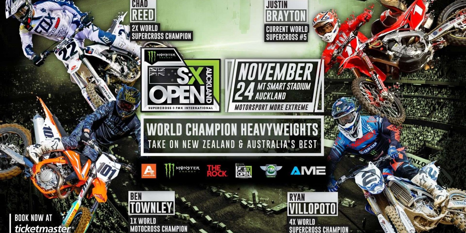 FB Event Cover photos for SX Open Auckland and AUS-X Open Sydney