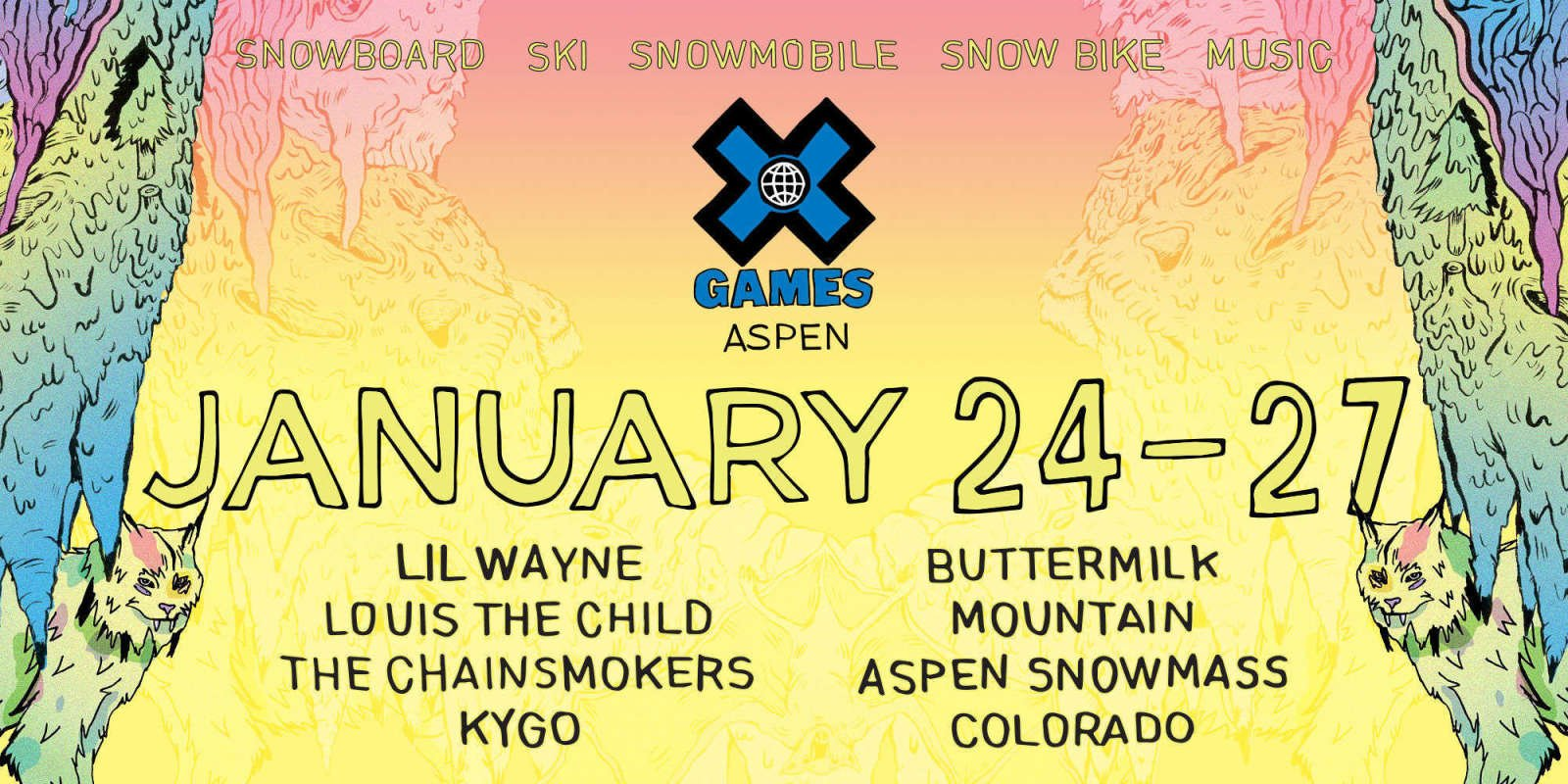 Returning for the 18th year, X Games will take over Buttermilk Mountain in Aspen Snowmass, Colorado, from January 24 -27, 2018.