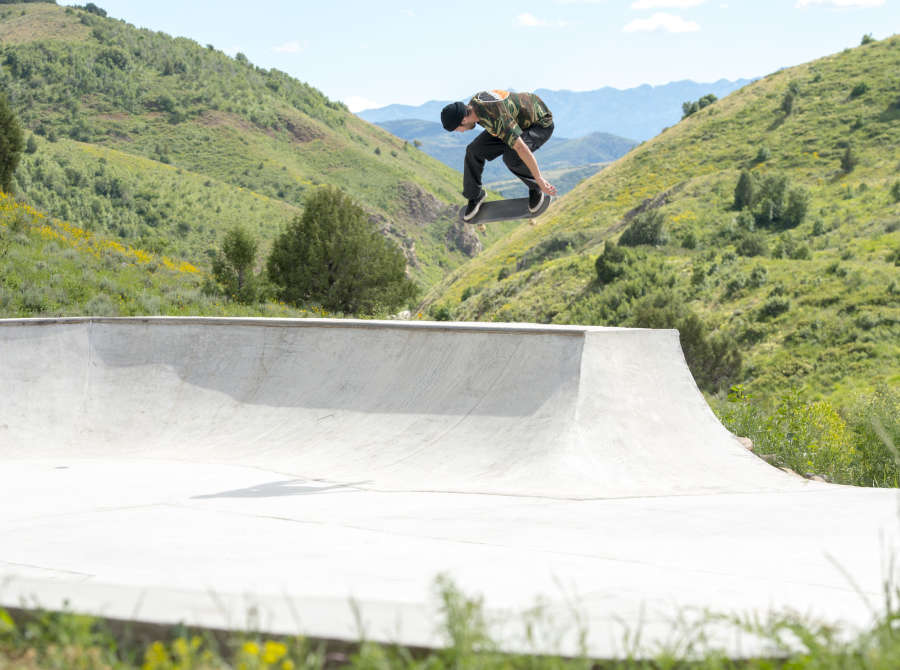 Image of Sam Beckett from X Games qualifier in Boise and skate trip through Utah