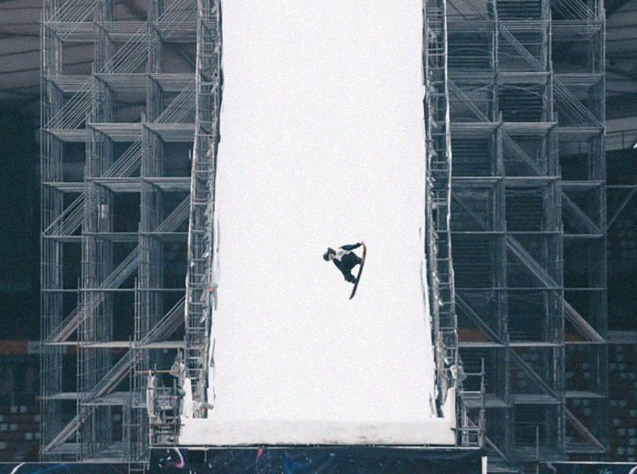 Sven Thorgren takes first place at the Air and Style Big Air in Beijing
