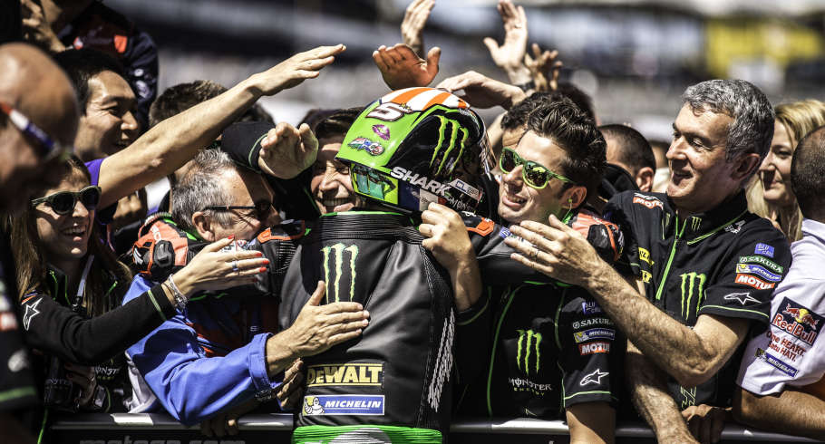 Images of the Race from pitlane and poduium at MotoGP Le Mans