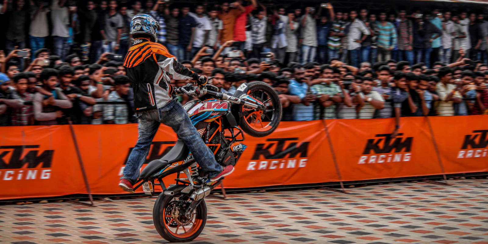 professional stunt bike team from India. Used as ambassadors to support Monster Energy launch in the market.