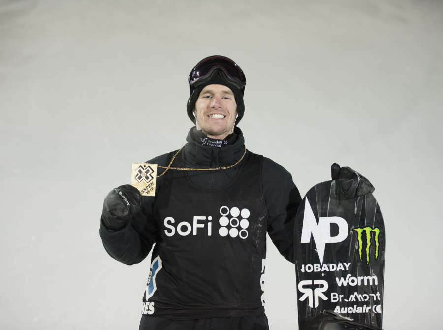 Shot of Maxence Parrot at Winter X Games, Aspen.