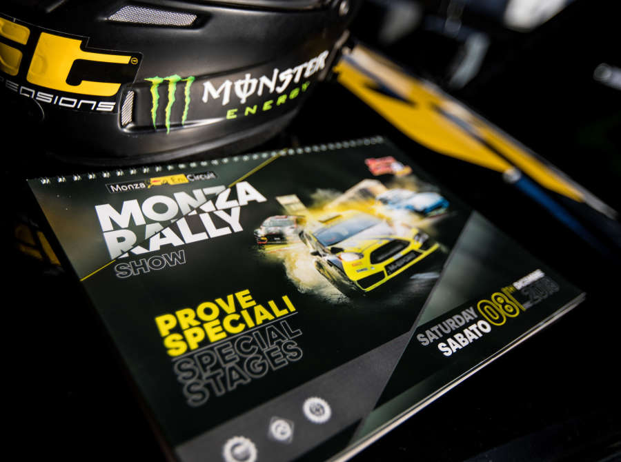 Liam Doran and his car at Monza Rally Show 2018