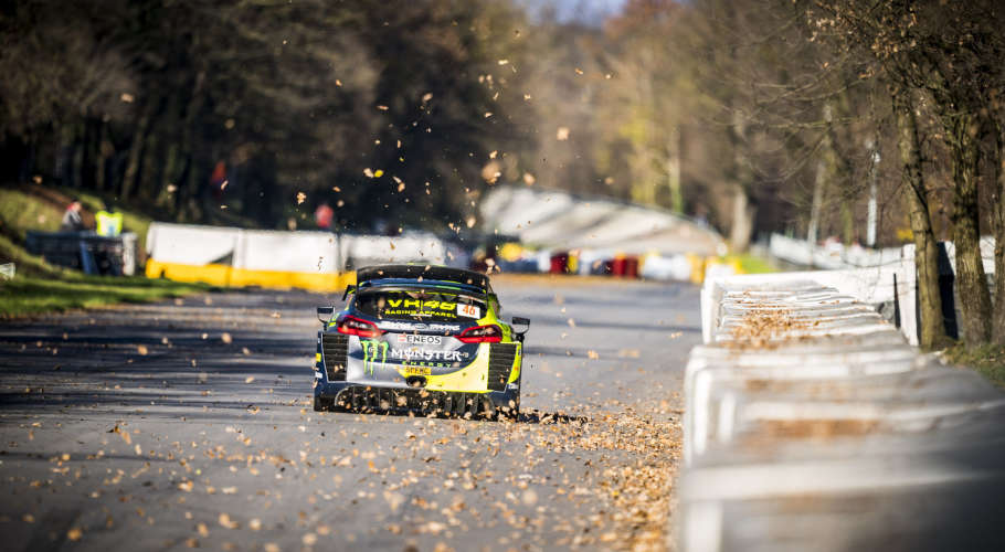 Valentino Rossi in action at Monza Rally Show 2018