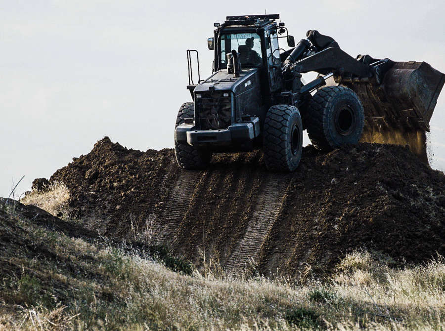 Images of the track build for the X Games Moto X Dirt contest.