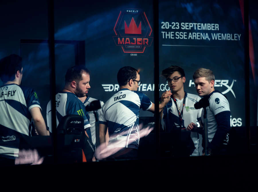 Photos of Team Liquid as they compete in the FACEIT CSGO Major in London, UK
