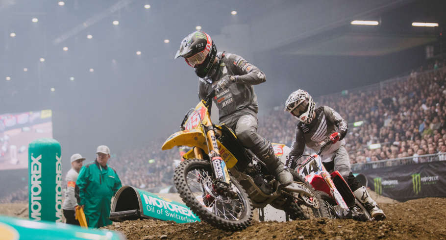 Cedric Soubeyras at the 2018 Geneva Supercross