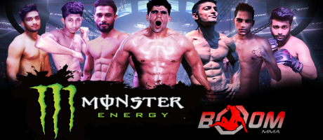 Assets used for website to create event for Boom MMA india,