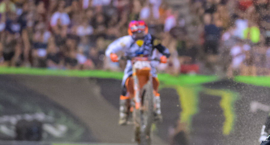 Image from the 2018 Supercross final in Las Vegas, NV