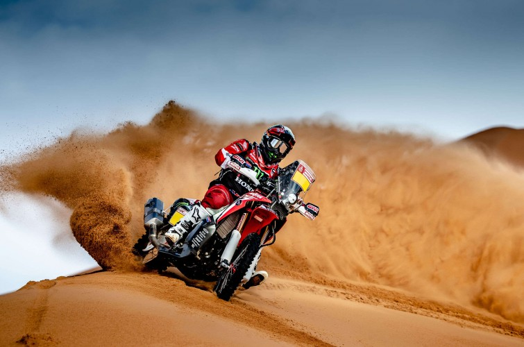 Paulo Goncalves at the 2019 Dakar HRC Shoot