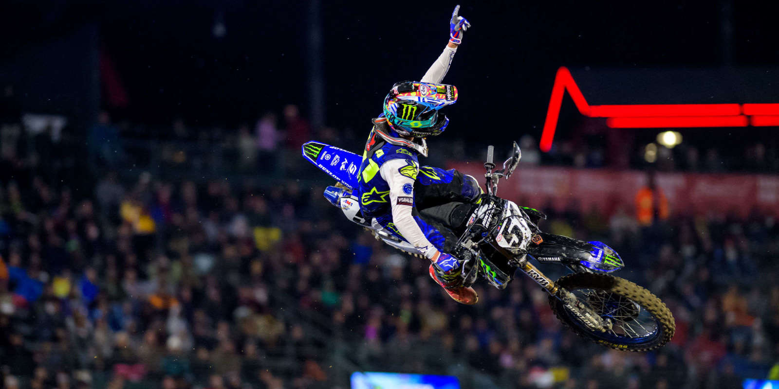 Justin Barcia at the first stop in Anaheim of the 2019 Supercross season