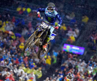 Colt Nichols at the first stop in Anaheim of the 2019 Supercross season