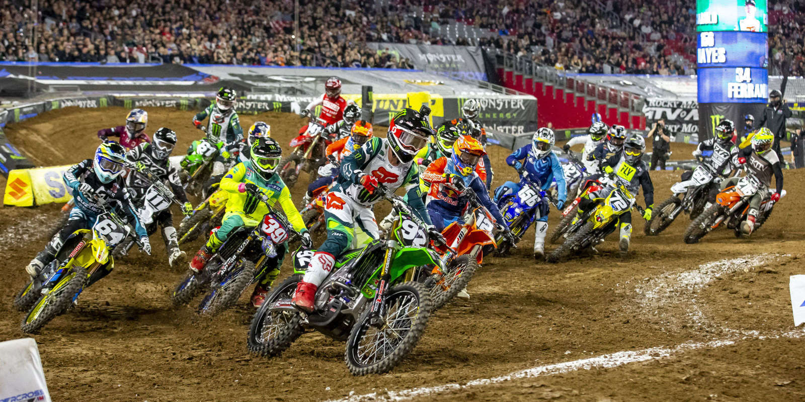 Shots from Supercross event in Glendale, California