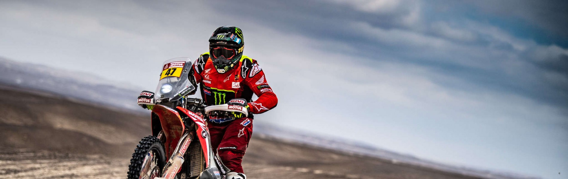 Kevin Benavides at the 2019 Dakar