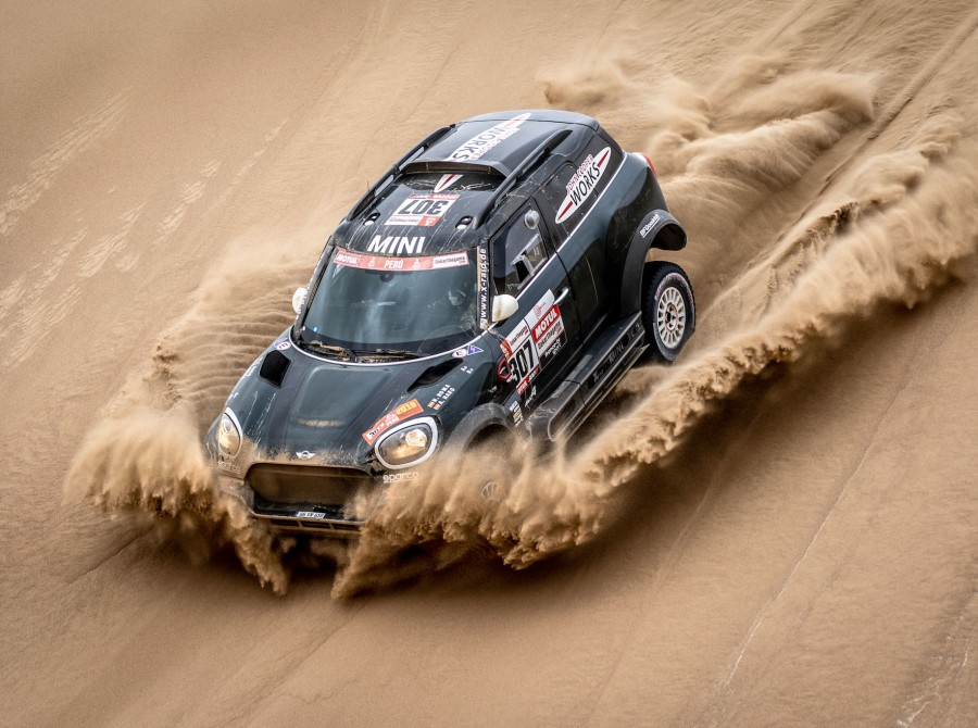 Shots from offroad Dakar event 2019 in Lima, Peru