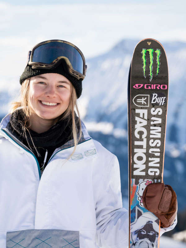 Giulia Tanno, taking a break from Freeski action in Adelboden Switzerland