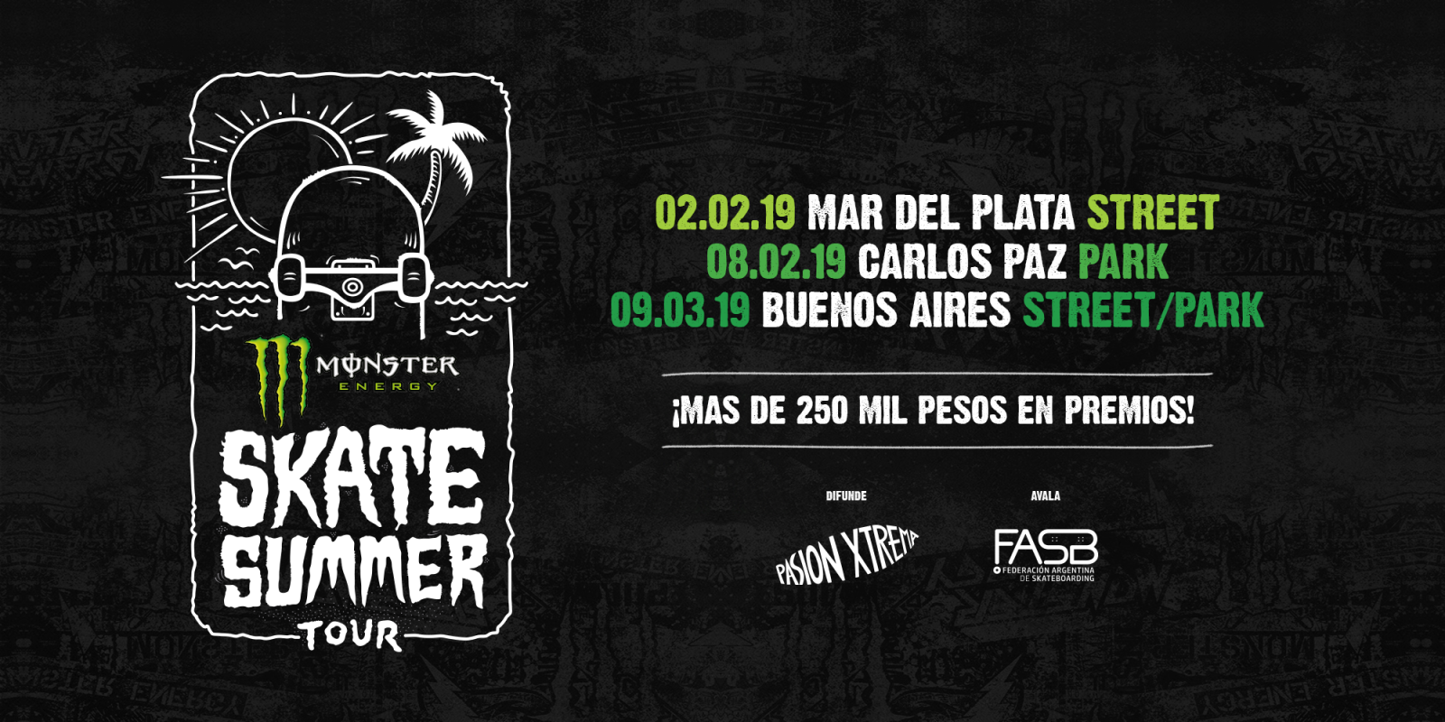 Digital assets for Summer Tour skate competition in Argentina