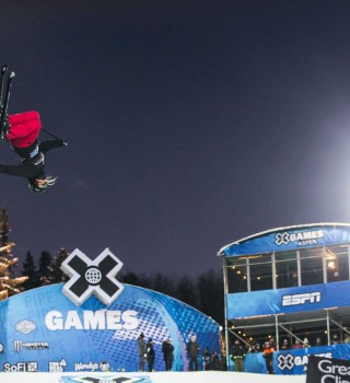 Shots from Ski Super Pipe at X Games in Aspen Colorado