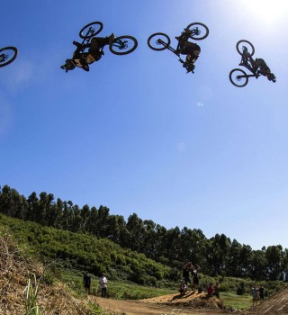 Adolf Silva double backflip  attempt on the 90 footer.