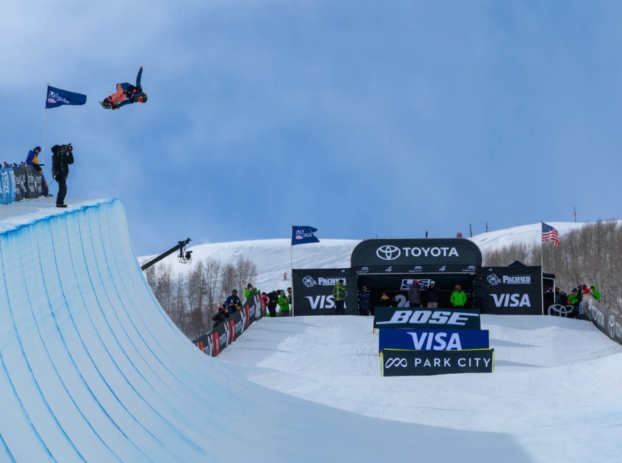 Image from the 2019 Snowboard World Championships in Park City, Utah