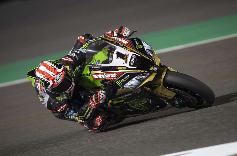 Jonathan Rea at the 2018 WorldSBK Qatar round