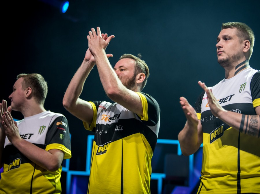 Photos of Natus Vincere, who won ESL One Cologne, at the LANXESS Arena in Germany!
