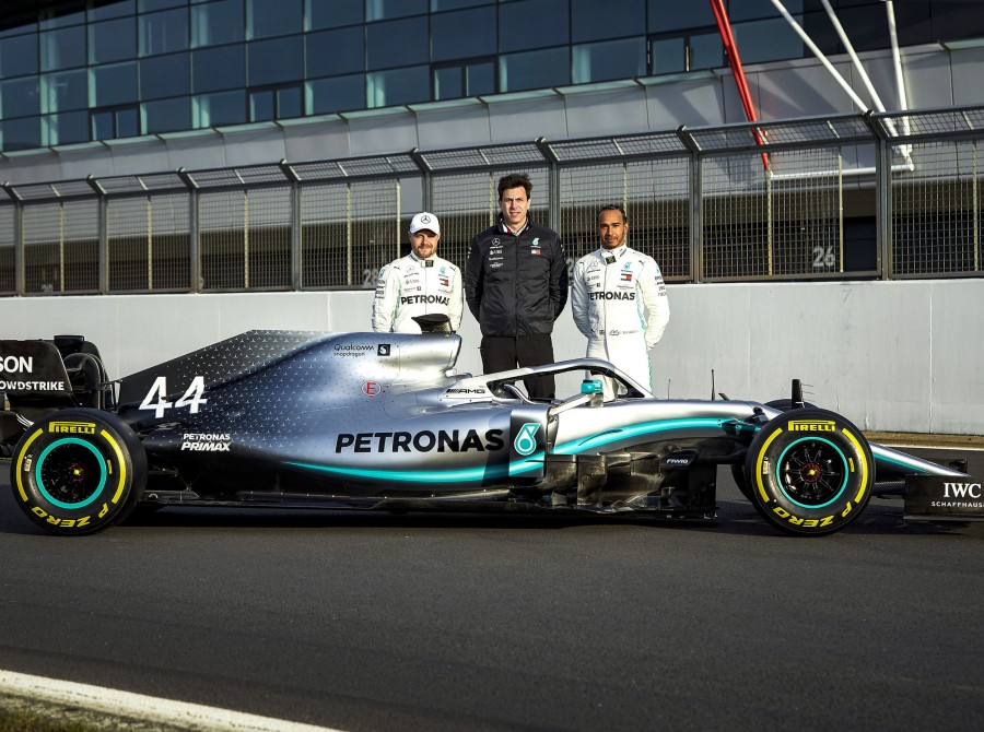 Shakedown images of the 2019 Mercedes AMG Petronas Motorsport Team car - W10