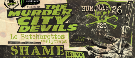 Punk Rock Bowling Murder City Devils side show admats