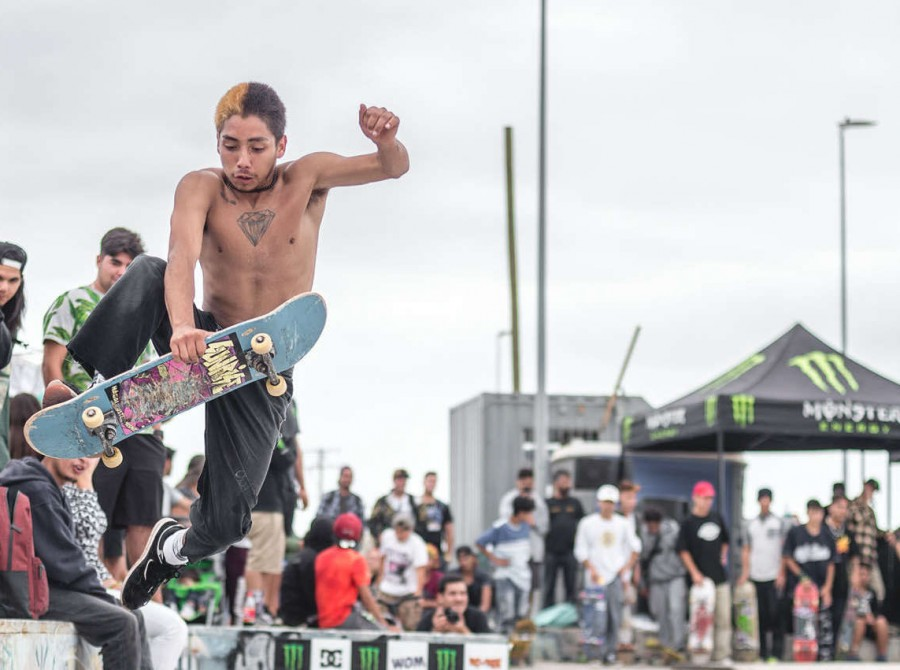 Images from Rey de Reyes skate competition in Quintero, Chile.