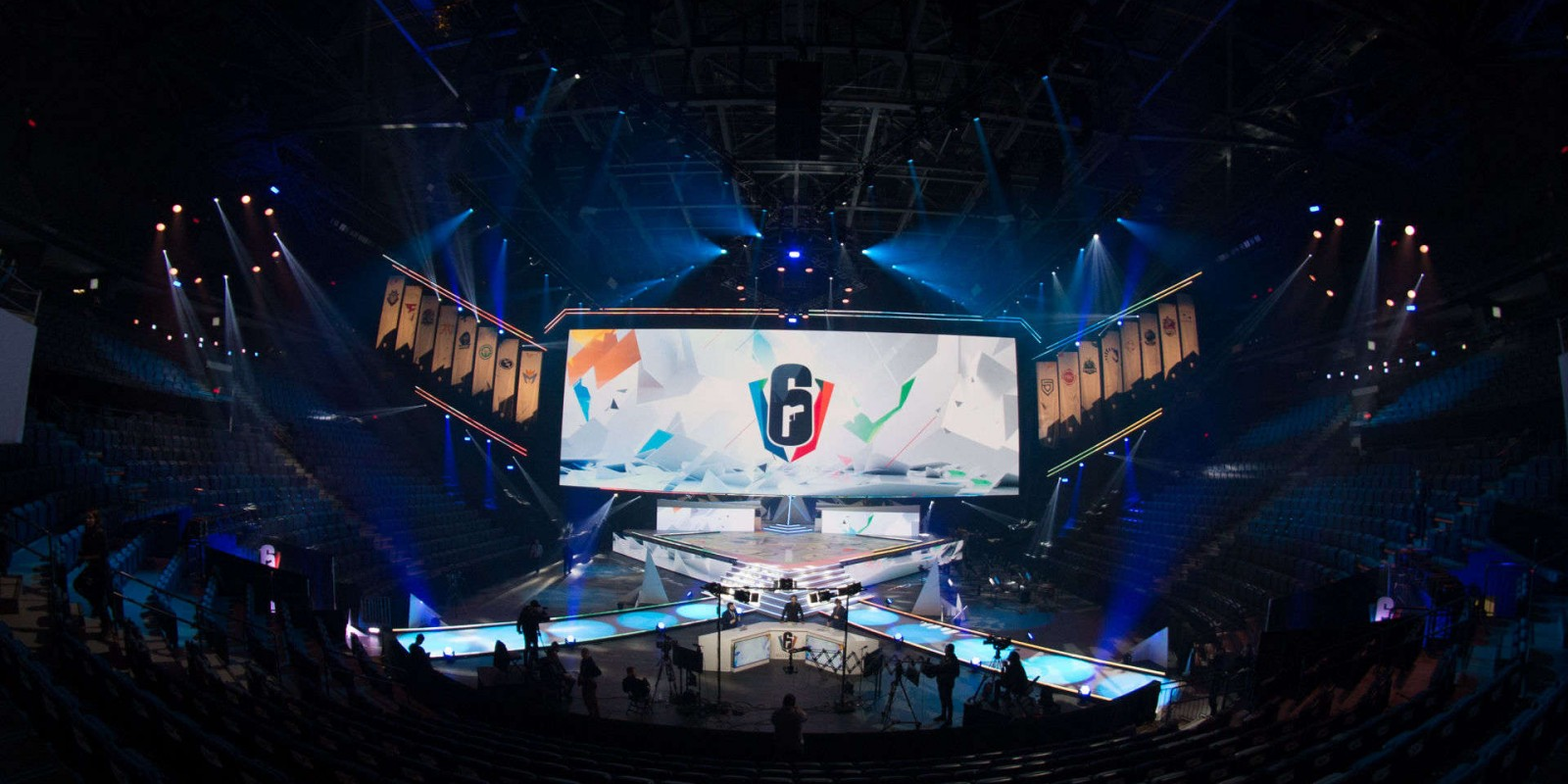 General photos of the Rainbow 6 Invitational arena at the Place Bell in Montreal, Canada.