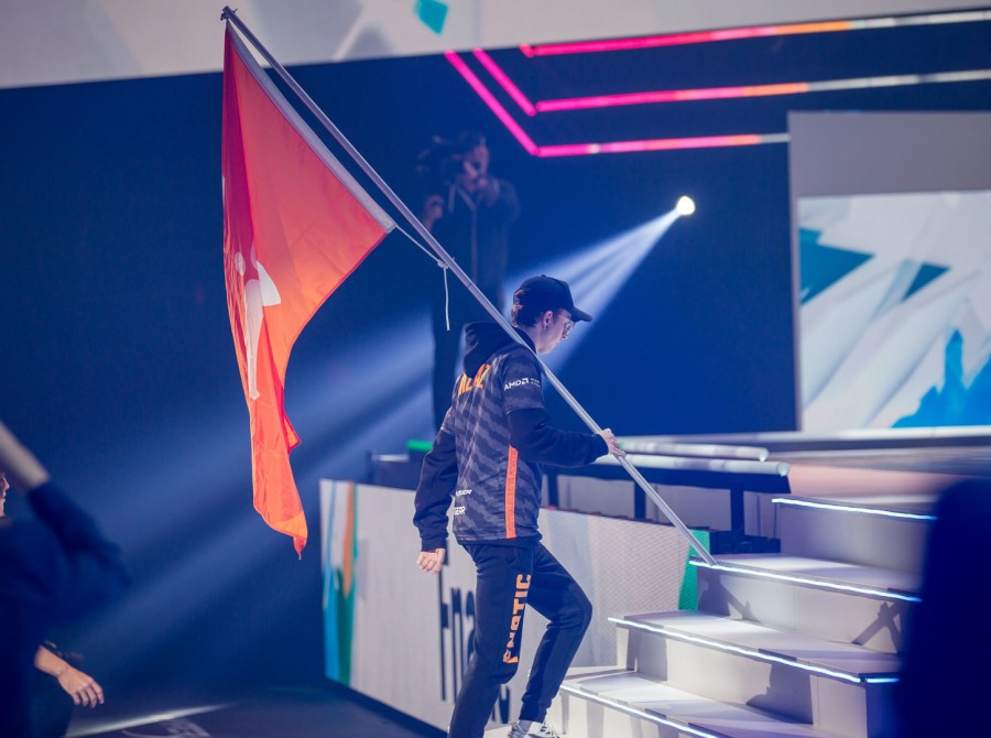 Photos of Fnatic's Rainbow 6 team as they play in the Rainbow 6 Siege Invitational in Montreal Canada at the Place Bell. Fnatic finished 5th-8th after being knocked out in the Quarterfinals.