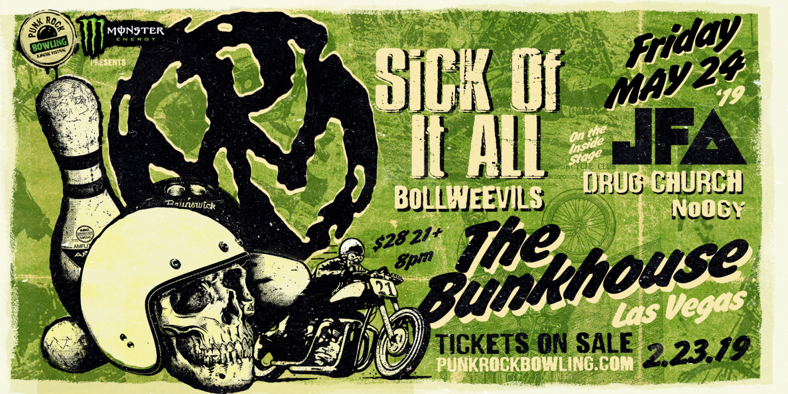 Punk Rock Bowling, bunk house side show assets - Pennywise and Sick Of It All