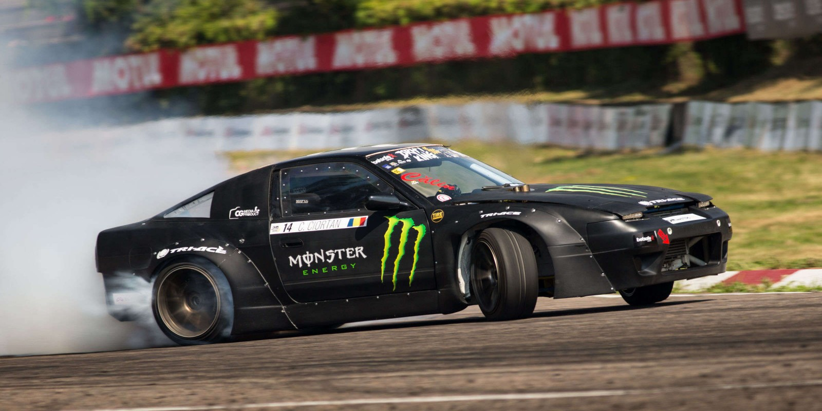 Images from round three of the 2018 Drift Masters Championship in Riga, Latvia