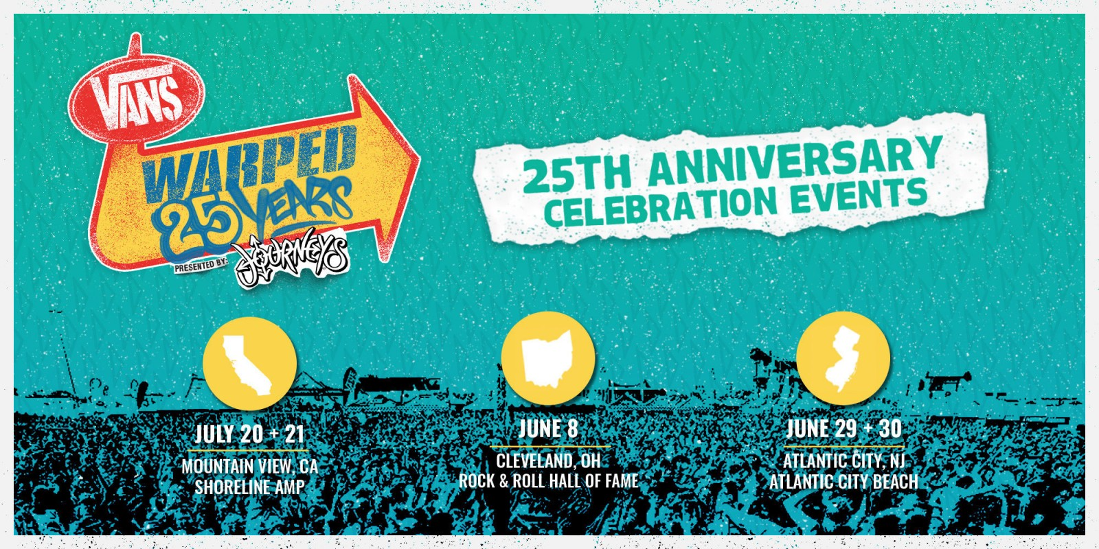 Vans Warped Tour 25th anniversary announcement assets