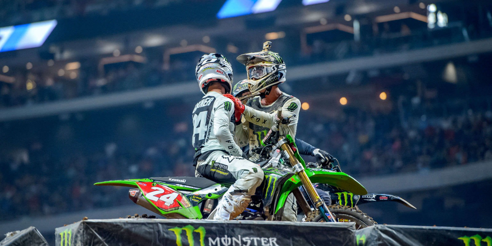 Monster athletes compete in Round 8 of the 2019 Supercross season in Atlanta