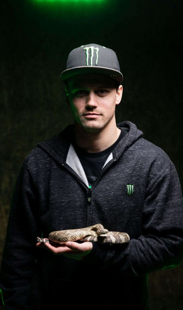 Kris Foster and a rattlesnake