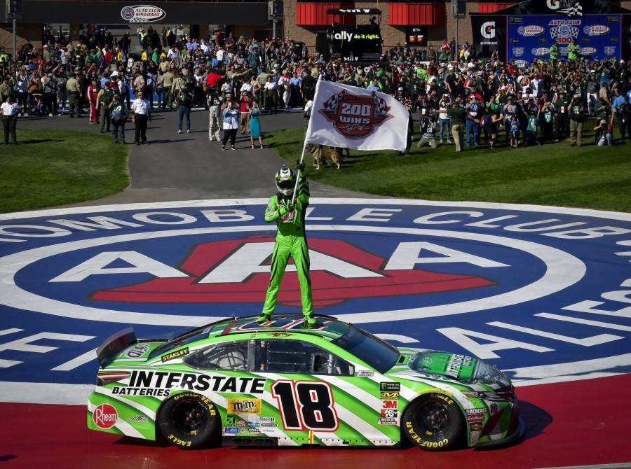 Images from the 2019 Monster Energy NASCAR Cup Series at the Auto Club stadium in Fontana, California