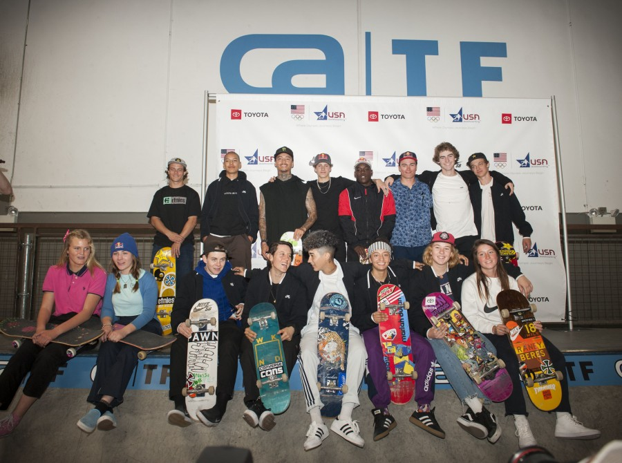 Shots from USA Olympic Skate team in California