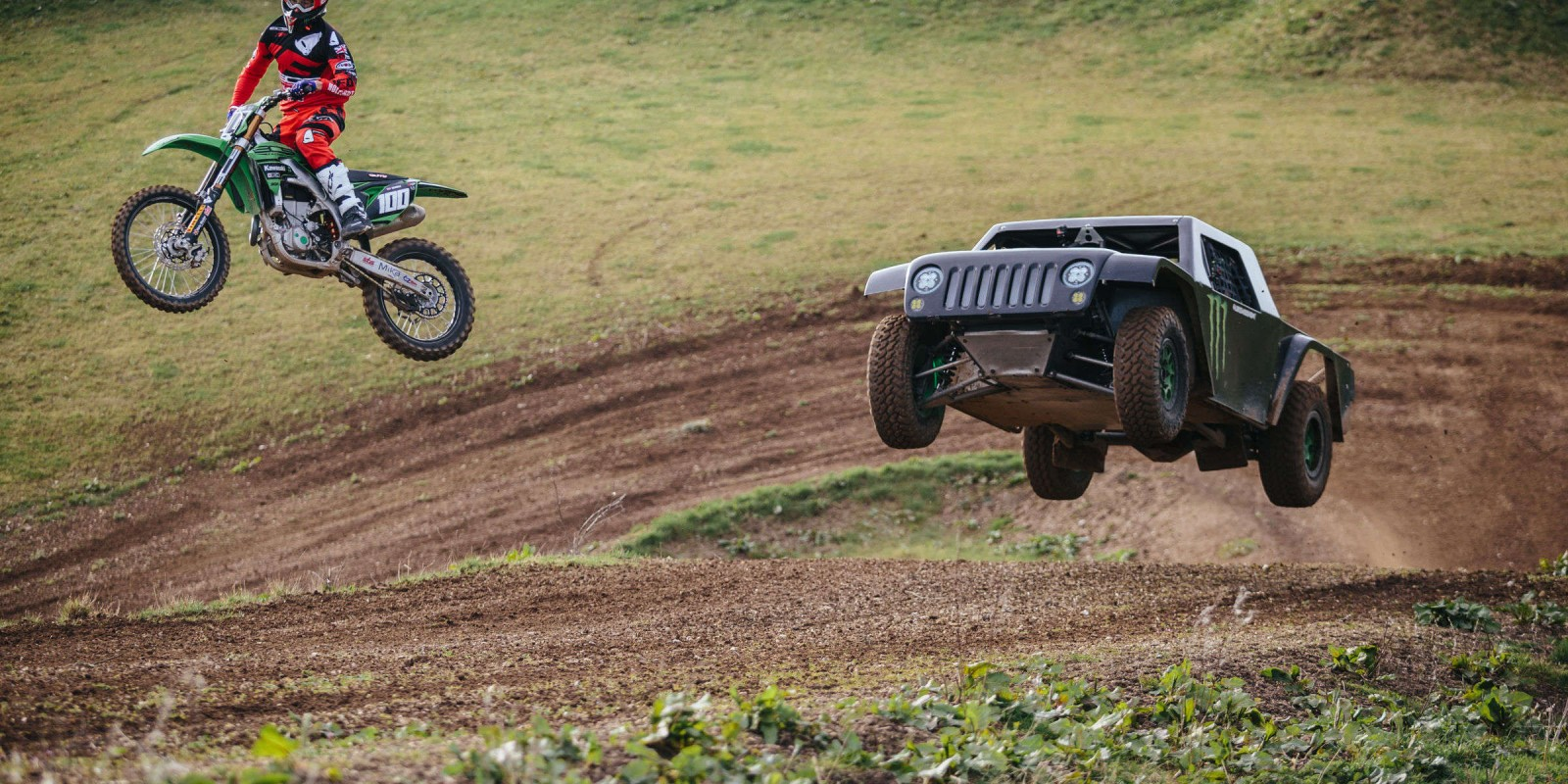 Shots of Luke Woodham and Tommy Searle at Matterley Basin