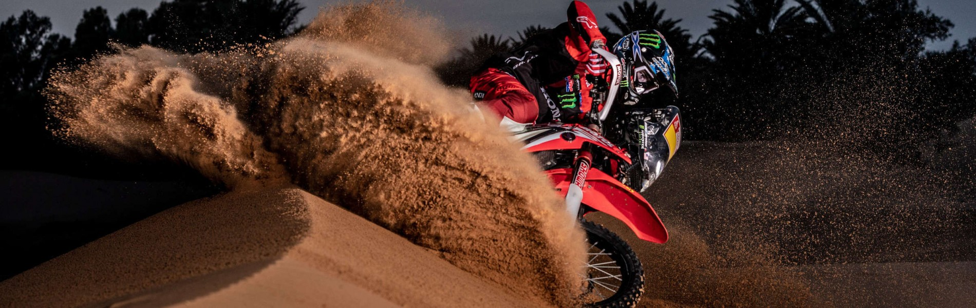 Ricky Brabec at the 2019 Dakar HRC Shoot
