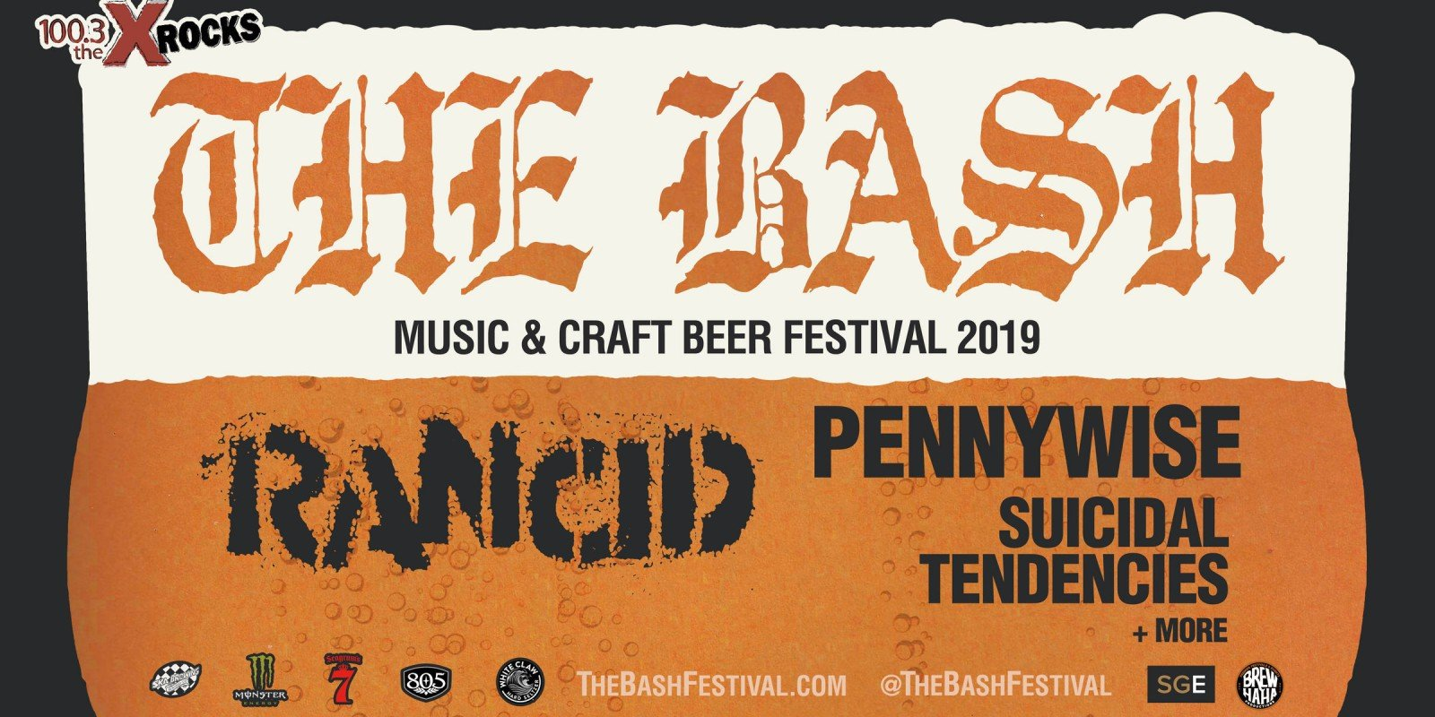 The Bash punk rock music tour and craft beer festival admats, PSD, IG story, fonts