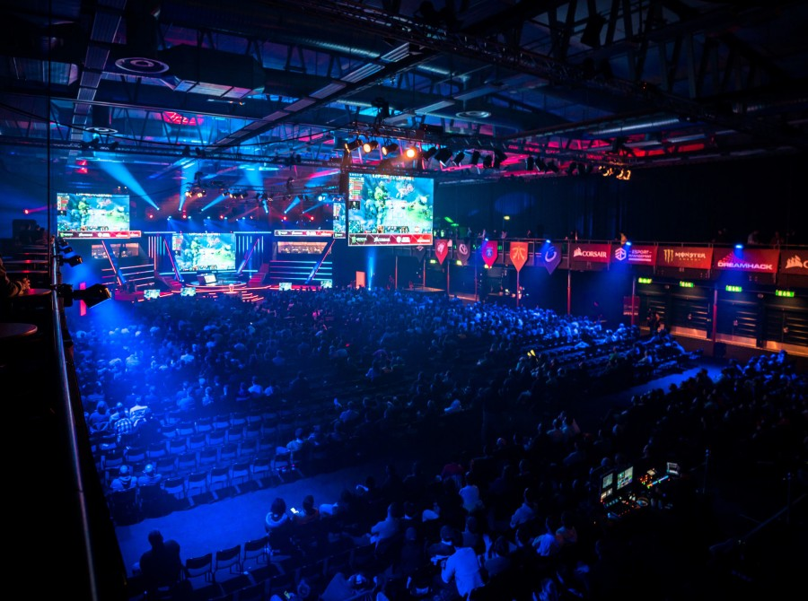 Photos of the arena and booth setup at the Dreamleague Major in Stockholm Sweden.