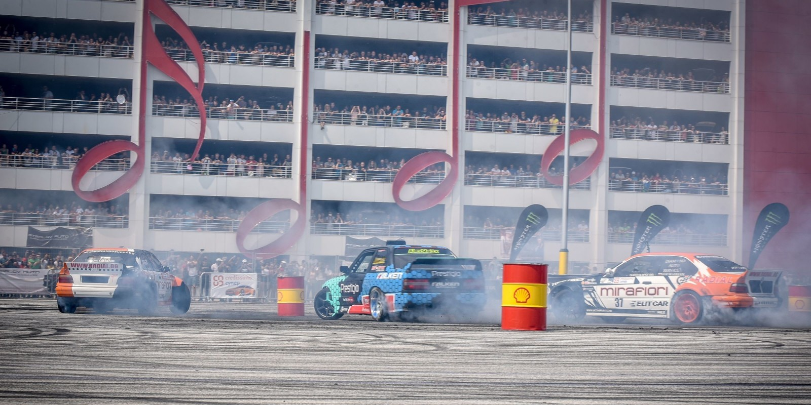 Photos of supported by ME drift athlete Alex Yazov at the BMW fest in Bulgaria also supported by ME