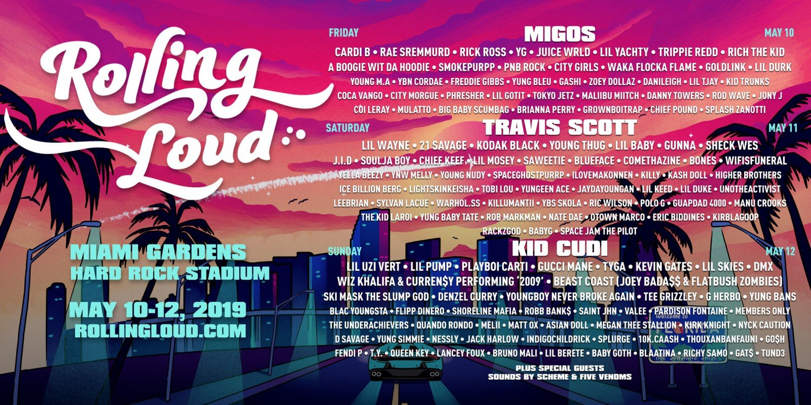 rolling loud event flyer admat